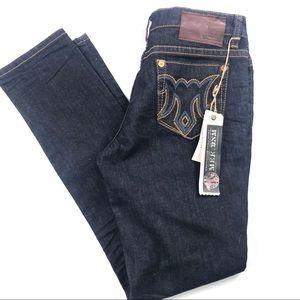 NEW Mek Avalon Cigarette Leg Jeans Sz 29 Dark
